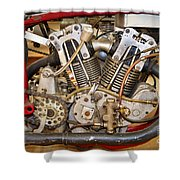 Burt Munro Special Indian Scout Engine Shower Curtain