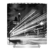 Bus Lights Shower Curtain