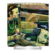 Bus Stop Dining Shower Curtain