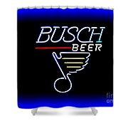 Busch And The Blues Edited Shower Curtain