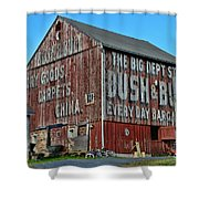 Bush And Bull Roadside Barn Shower Curtain
