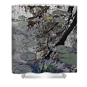 Lilies In The Pond Shower Curtain