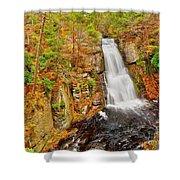 Bushkill Falls Pa Shower Curtain