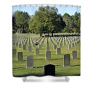 Bushnell National Cemetary Shower Curtain