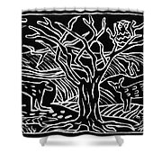 Bushveld Indaba Shower Curtain by Caroline Street