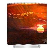 Bushveld Sunset Shower Curtain