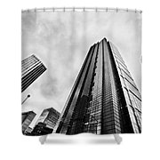 Business Architecture Skyscrapers In London Uk Shower Curtain