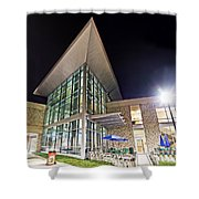Business Building At Night Shower Curtain