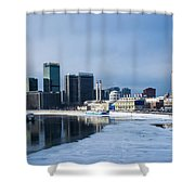 Business District Of Moscow Shower Curtain