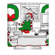 Business Elves Shower Curtain by Genevieve Esson