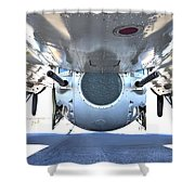 Business End Of A Ball Turret Shower Curtain