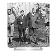 Business Leaders Play Golf Shower Curtain