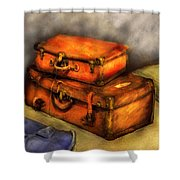 Business Man - Packed Suitcases Shower Curtain by Mike Savad