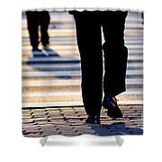 Business People Background Shower Curtain