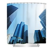 Business Skyscrapers Shower Curtain