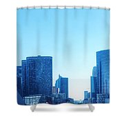 Business Skyscrapers  Paris France Shower Curtain by Michal Bednarek