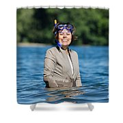 Business Woman Shower Curtain