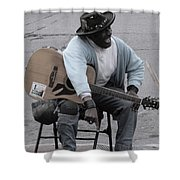 Busker With Style Shower Curtain