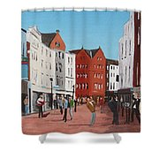 Busking On Grafton Street Shower Curtain