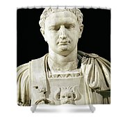 Bust Of Emperor Domitian Shower Curtain