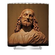Bust Of Jesus Christ At Mfa Shower Curtain