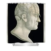 Bust Of Johan Spurzsheim Shower Curtain