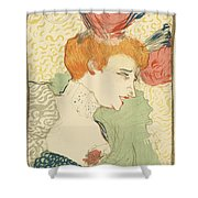Bust Of Mlle. Marcelle Lender Shower Curtain