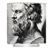 Bust Of Plato  Shower Curtain