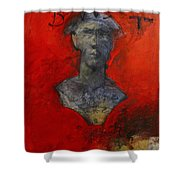 Bust Ted - With Sawdust And Tinsel  Shower Curtain by Cliff Spohn
