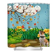 Buster And The Tree Shower Curtain