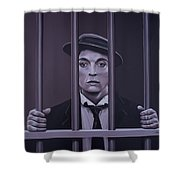 Buster Keaton Painting Shower Curtain