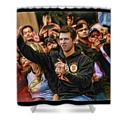 Buster Posey World Series 2012 Shower Curtain