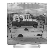 Busy Cow Dairy Edit 2 Shower Curtain