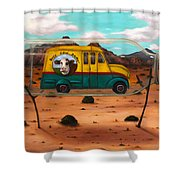 Busy Cow Dairy Edit 3 Shower Curtain