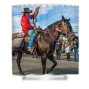 Busy Cowgirl Shower Curtain