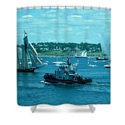 Busy Halifax Harbor During The Parade Of Sails Shower Curtain