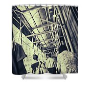 Busy Sidewalks Shower Curtain