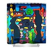 Busy Streets Downtown Shower Curtain