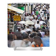 Busy Takeshita Dori Shower Curtain