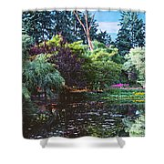 Butchart Gardens Is A Group Of Floral Display Brentwood Bay Shower Curtain