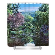 Butchart Gardens Is A Group Of Floral Display Gardens British Columbia Canada 3 Shower Curtain