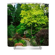 Butchart Gardens Pathway Shower Curtain