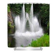 Butchart Gardens Waterfalls Shower Curtain
