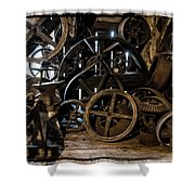 Butte Creek Mill Interior Scene Shower Curtain