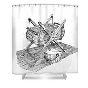 Butter Churn Circa 1822 Shower Curtain