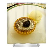 Butter Tart With Ice Cream Shower Curtain
