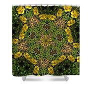 Buttercup Kaleidoscope Shower Curtain