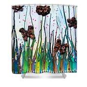 Butterflies And Flowers Shower Curtain