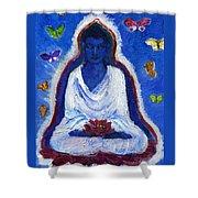 Butterflies Dream Of Buddha Shower Curtain