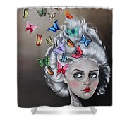 Butterflies In The Thoughts Shower Curtain